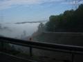 170930上って来た旧道と周山方面の濃霧