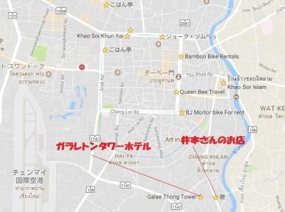 チェンマイ旧市街地図 ホテル 憩い