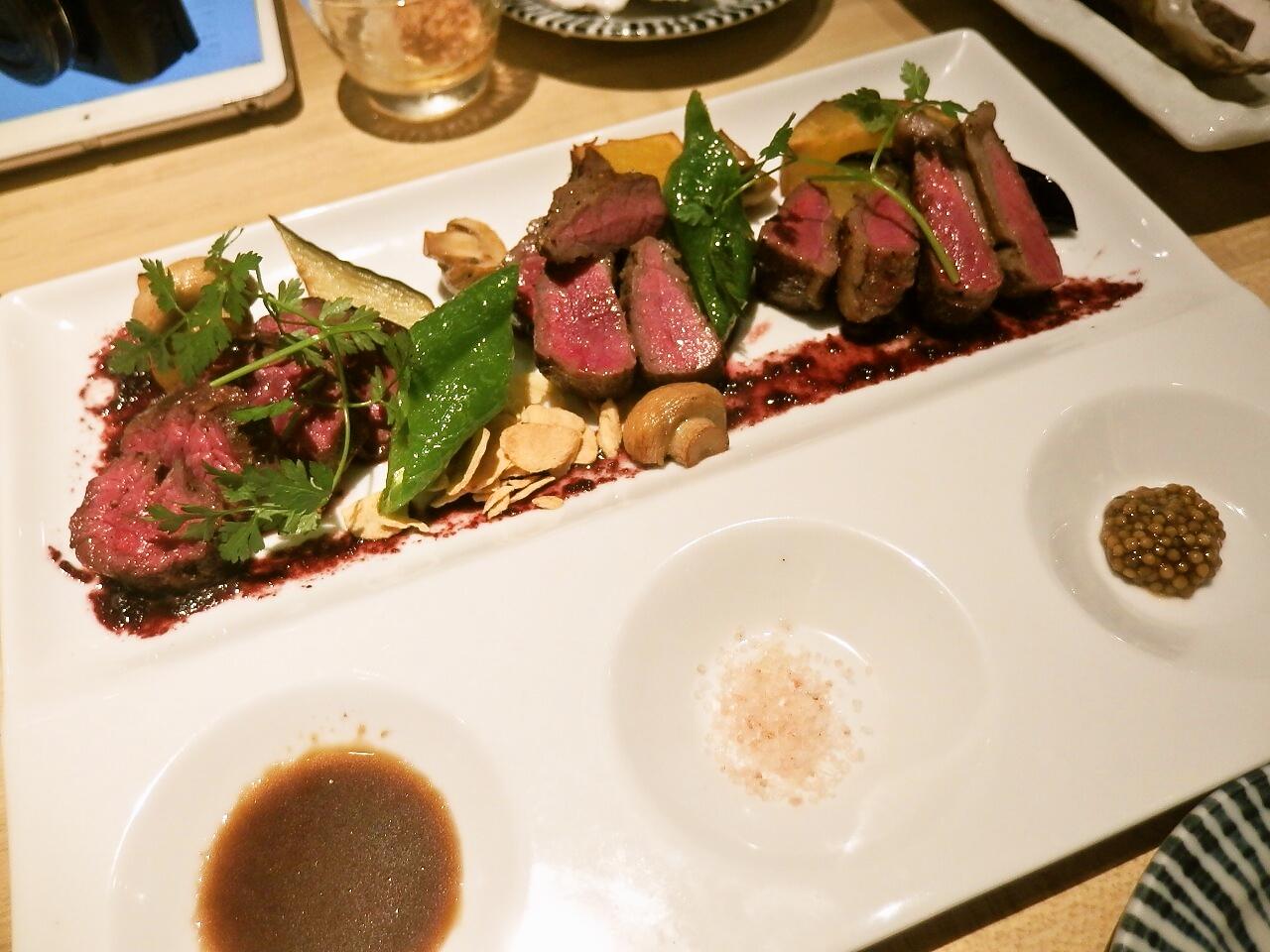 かき鐵 ステーキ3種
