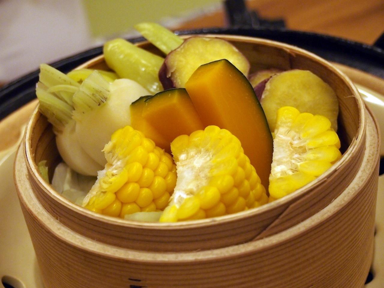 野菜の蒸篭蒸し