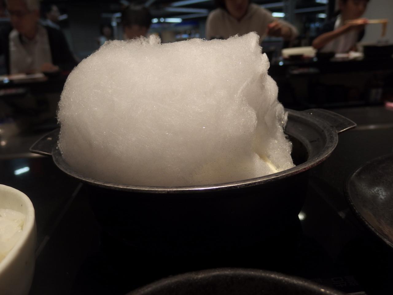 だし蔵 すき焼き 綿菓子