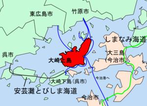大崎上島位置図