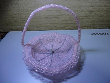 バスケット ピンク