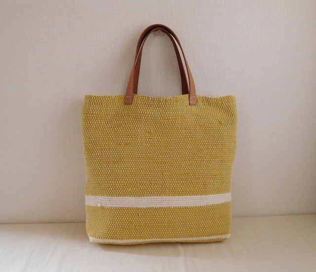 新作 裂き織りバッグ の紹介