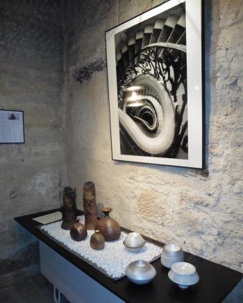 写真と焼き物の展示