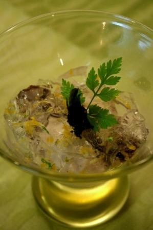 牡蠣の冷製仕立て 海水ジュレと牡蠣のムース添えweb