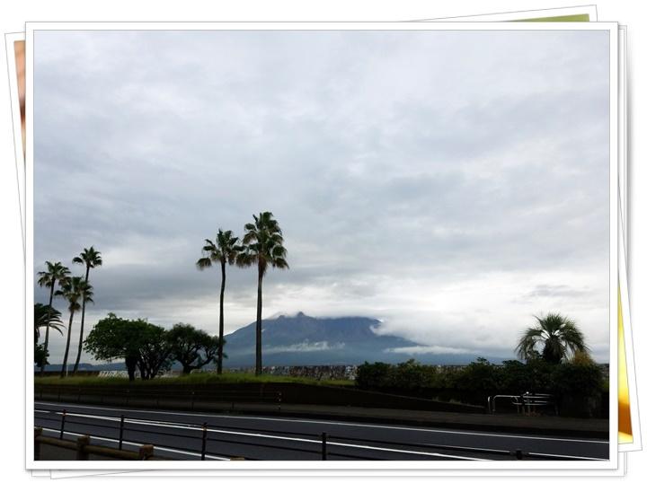 雨あがりの桜島