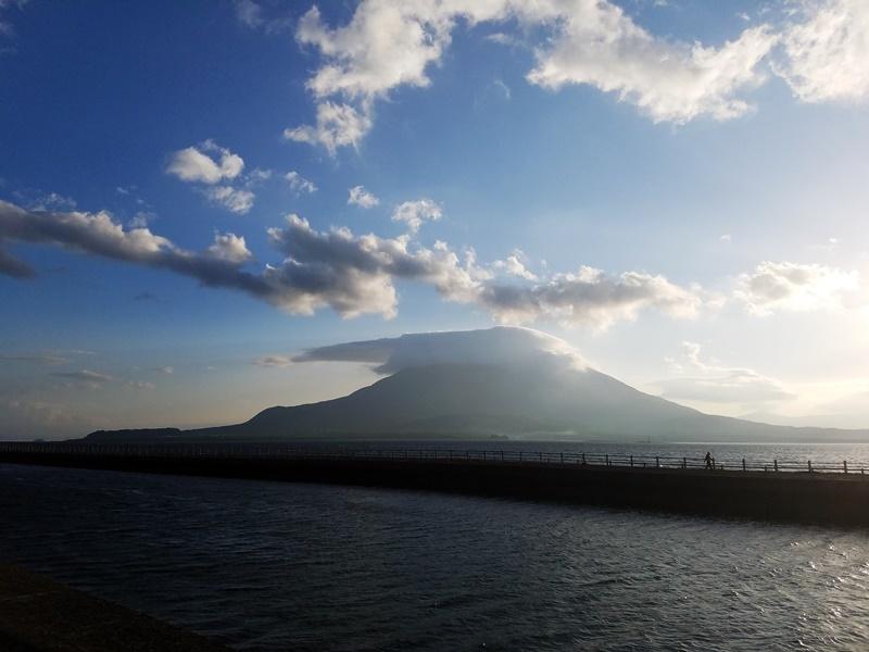 朝の桜島台風前1