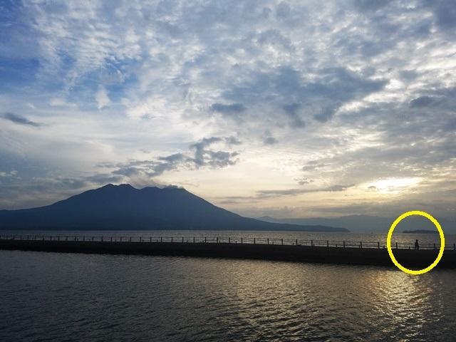 朝の桜島2-2