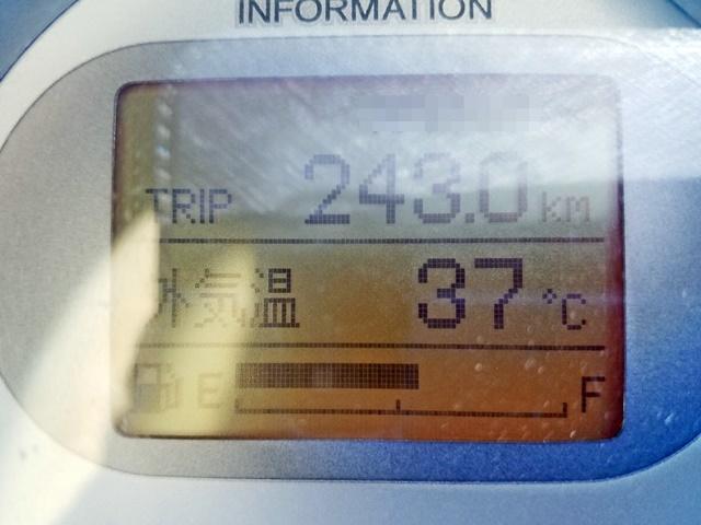 暑い車内温度