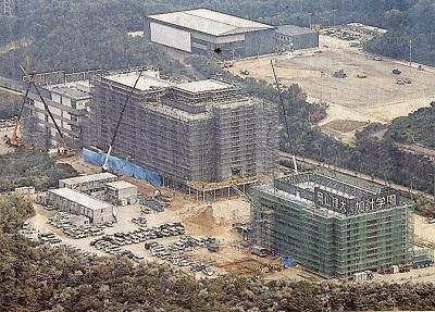 建設が進む獣医学部の校舎