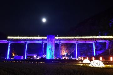 宇都井駅イルミ(6)