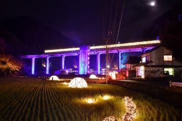 宇都井駅イルミ(7)