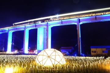 宇都井駅イルミ(9)