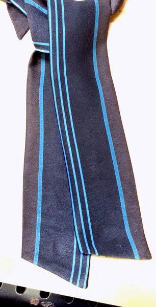 ニットワンピースVゾーンスカーフ9