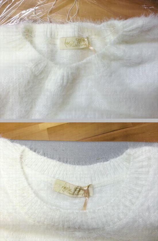 シャギー袖口レースニット8