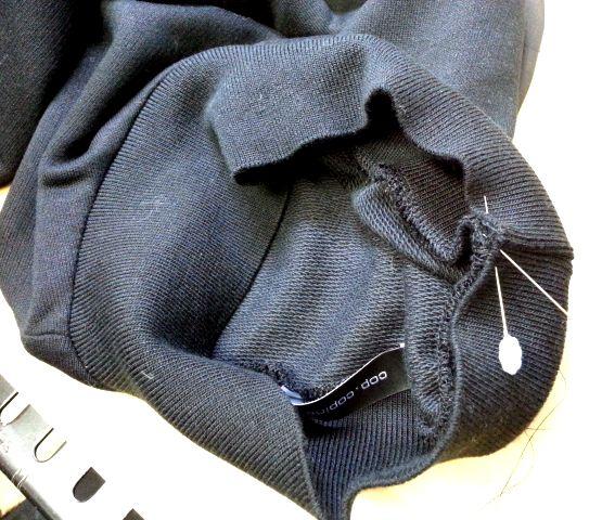 cop袖オーガンジートップ襟の高さ3