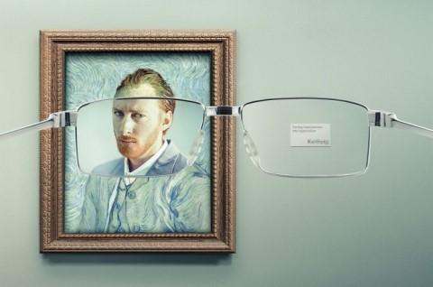 ゴッホの絵画がクリアに見えるフランスの広告