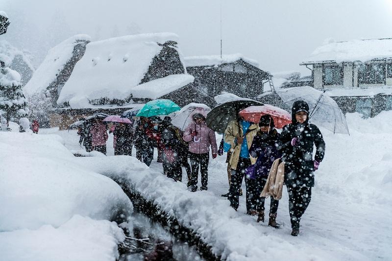 2017.12.13白川郷 降り続く雪 15