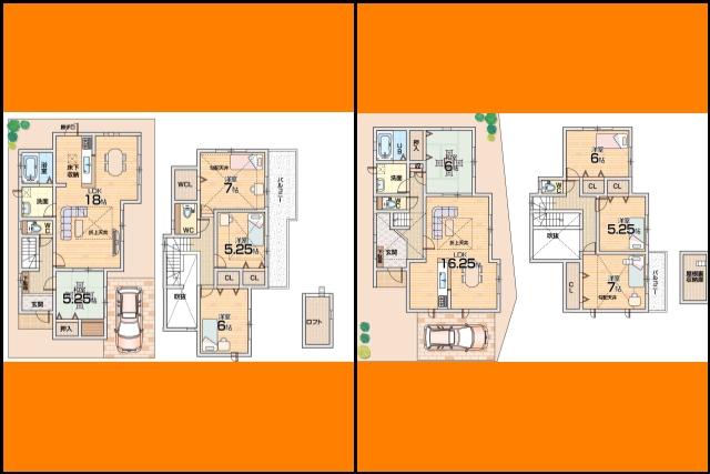 1号2号 区画図