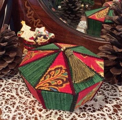 八角形ボックス(クリスマス)