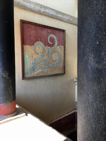 クノッソス12復元フレスコ画1