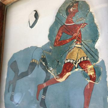 クノッソス13復元フレスコ画2