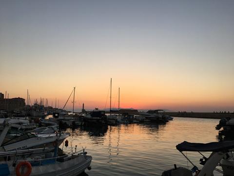 ヴェネチアンポートの夕焼け