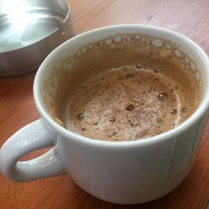 サマリア渓谷出口のお店のコーヒー