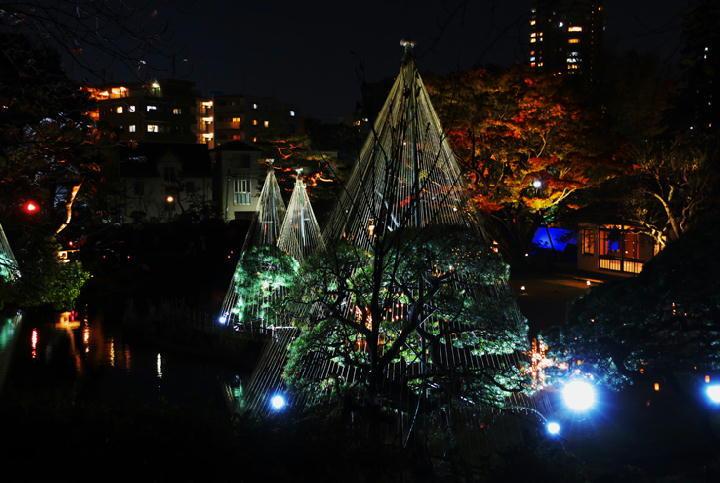 細川邸のライトアップ-723-11