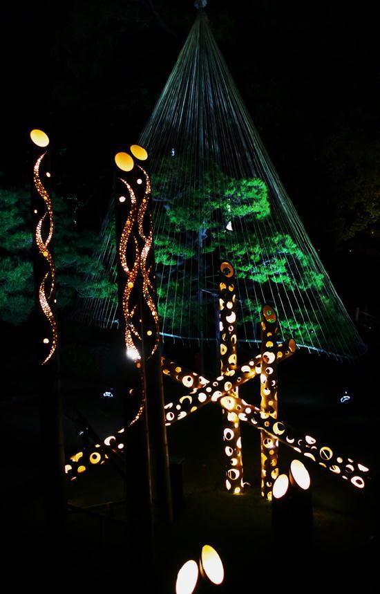 細川邸のライトアップ-747-11