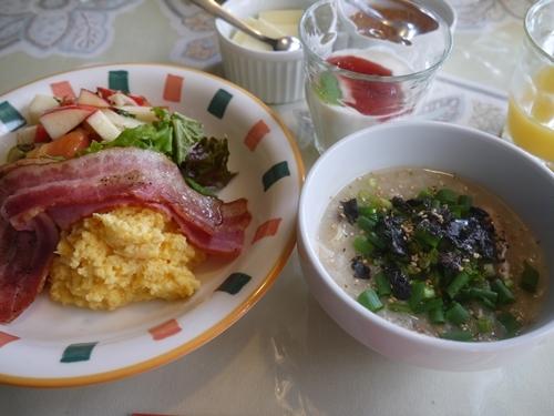 お宿の朝食