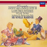 Ottorino Respighi Ancient Airs and Dances Suite III The Birds Suite La Boutique Fantasque Sir Neville Marriner with Academy of St Martin in the Fields