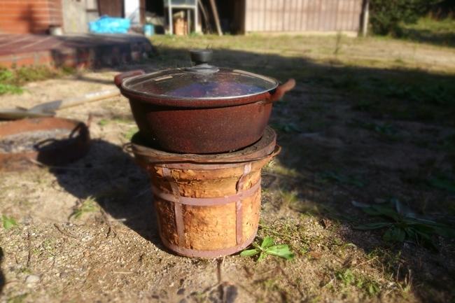 安納芋を石焼