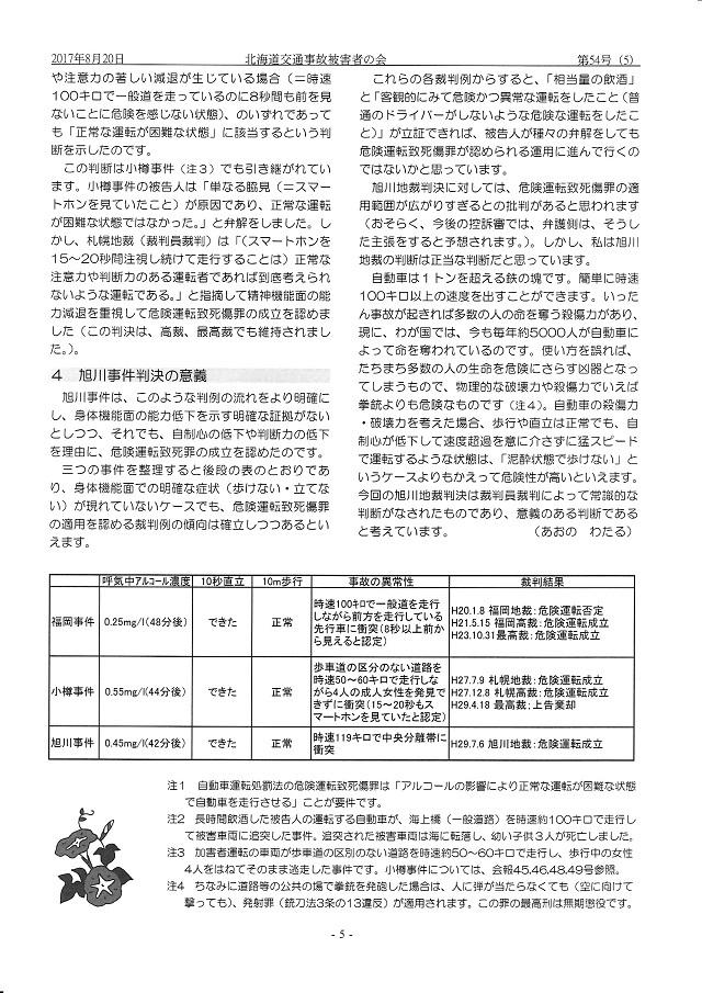 青野渉弁護士「旭川飲酒暴走事件の判決報告」その2
