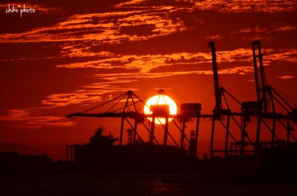 photo-747 港の夕暮れ3-1