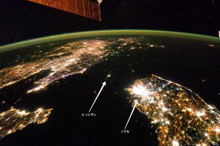 北朝鮮  夜景