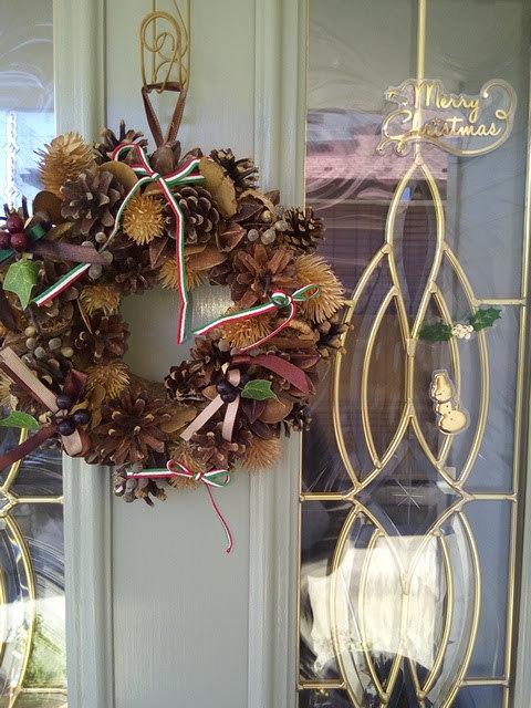 クリスマスのドア飾り
