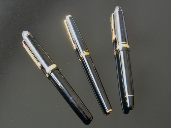 3本の万年筆