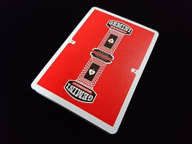 GEMINI CASINO Playing Cards Red (3)