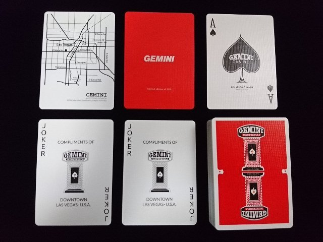 GEMINI CASINO Playing Cards Red (5)
