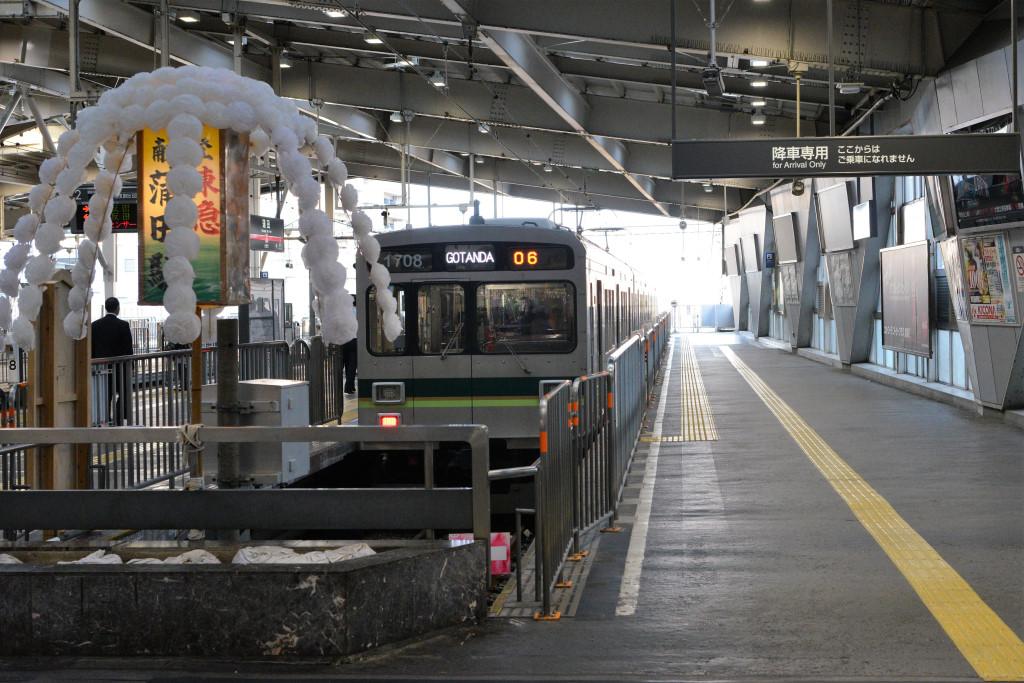東急蒲田駅 池上線ホーム
