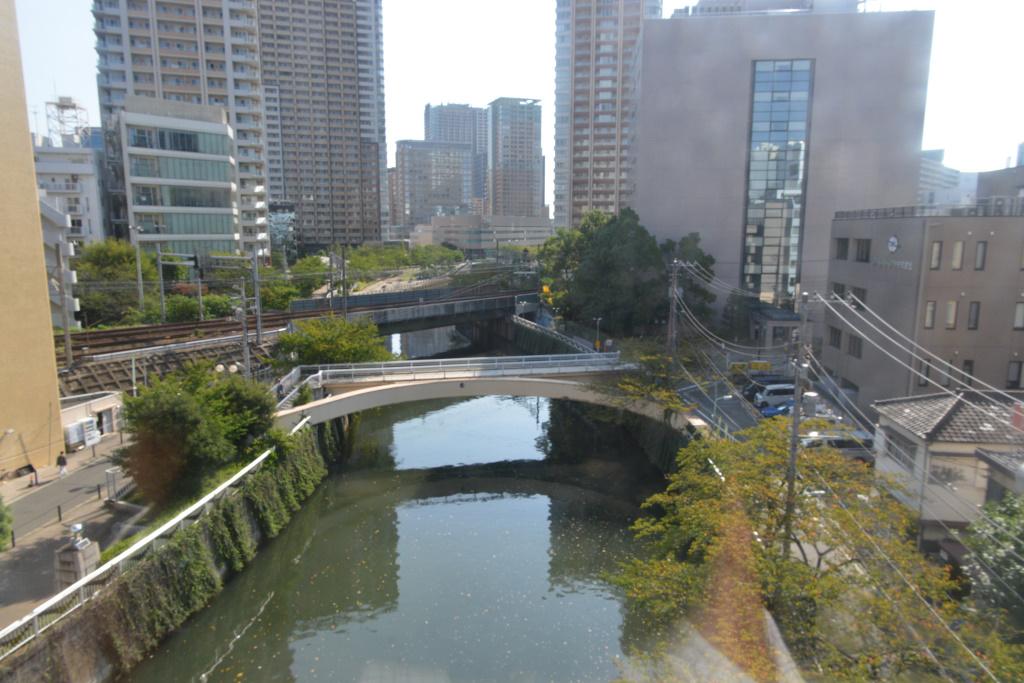 五反田駅直前を流れる目黒川下流