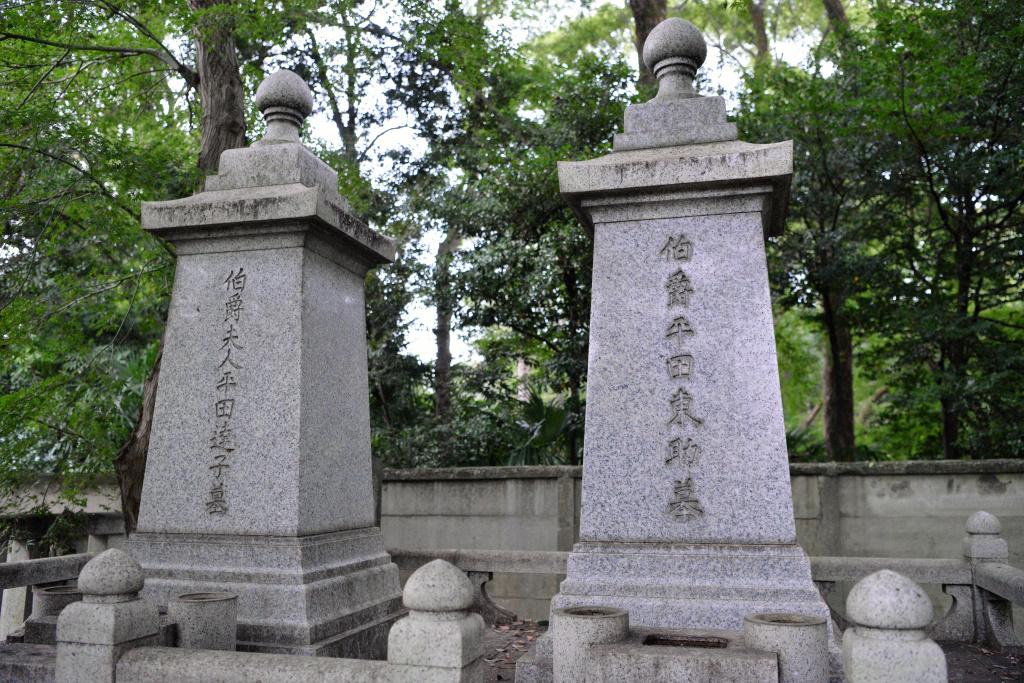 平田 東助 達子 夫妻