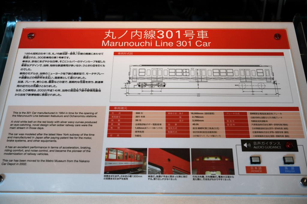 丸ノ内線 1号車 説明板