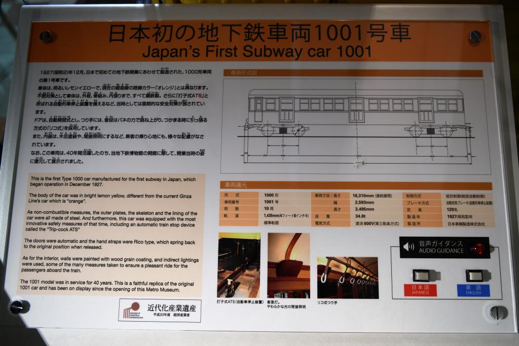 1001号車 説明板 2