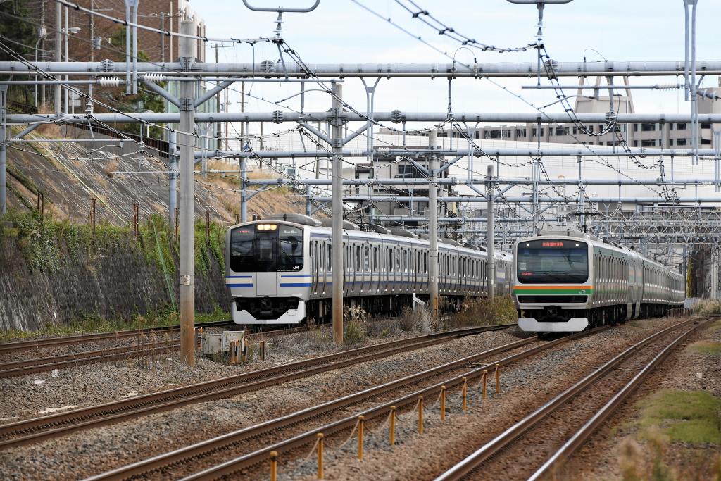 横須賀線&東海道線 並走