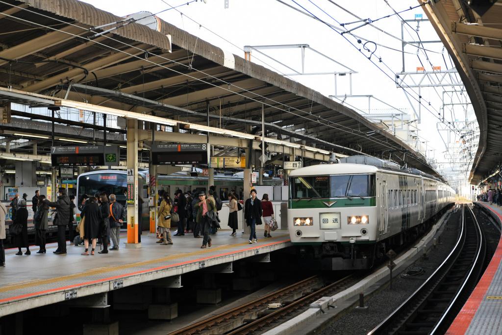 東海道線臨時上り電車