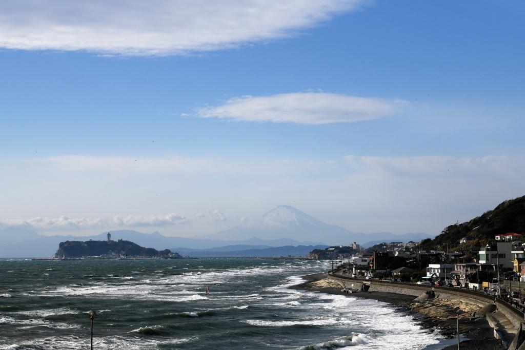 江の島 & 富士