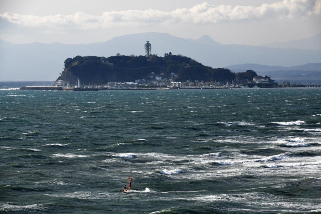 大写しの江の島